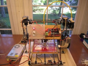 The printer including the power supply on the left